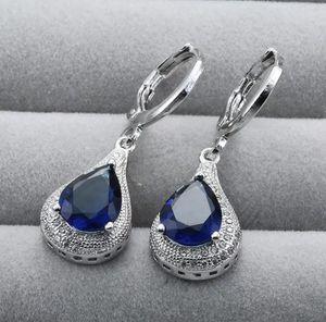 Fashion 925 Silver Sapphire Earrings for Sale in Aldie, VA