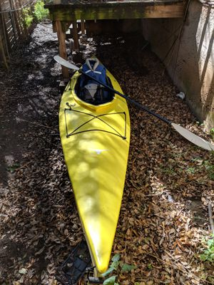 13ft Yellow Old Town Kayak/paddle/vest/accessories for Sale in Austin, TX