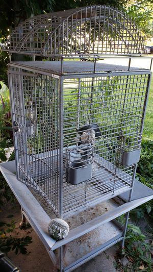 Medium Bird caged on wheels for Sale in Brook Park, OH