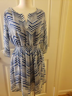 Blue and white above the knee dress for Sale in Houston, TX