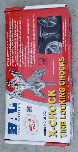 X-CHOCK Tire Locking Chocks for Campers Etc. Nice! for Sale in Lake Elsinore, CA