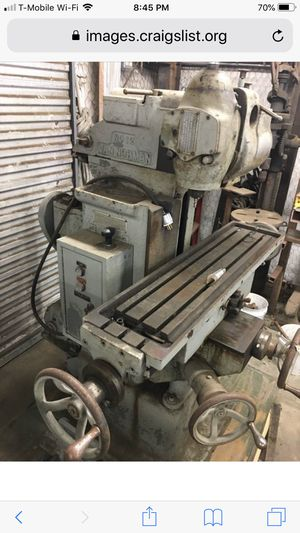 Looking for Von Norman milling machine for Sale in Grand Prairie, TX