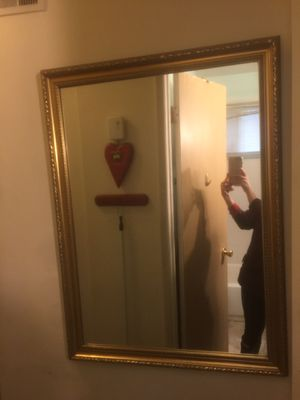 Gold wall mirror large for Sale in Alexandria, VA