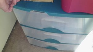 Plastic 3 drawer cart for Sale in Spring Valley, CA