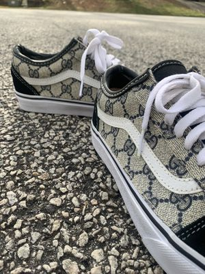 Vans x Authentic Gucci custom sewn sneakers (Size 6.5M) for Sale in Decatur, GA
