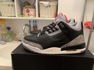 Air Jordan black cement 3s size 11 for Sale in Houston, TX