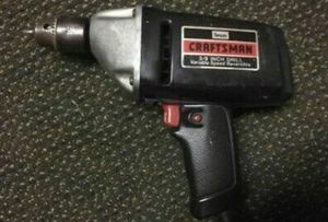 Vintage Sears CRAFTSMAN VARIABLE SPEED REVERSIBLE 3/8 Inch Drill Mode for Sale in Pataskala, OH