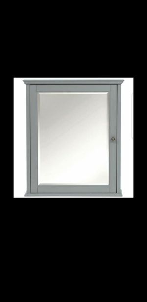 New Home Decorators Collection Hamilton 24 in. W x 27 in. H Wall Mirror Cabinet in Grey (Retail $188 + tax) for Sale in Phoenix, AZ