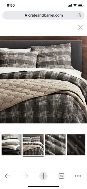 Crate and Barrel King Shams for Sale in Poway, CA