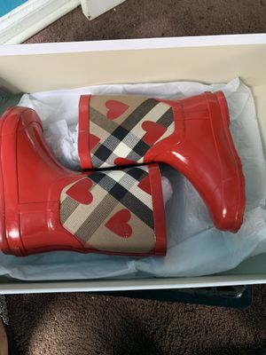 Burberry Coat , Shirt, Jeans and Rain boots for Sale in Detroit, MI