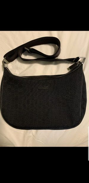 Authentic Gucci GG pattern black canvas shoulder bag for Sale in Newport Beach, CA