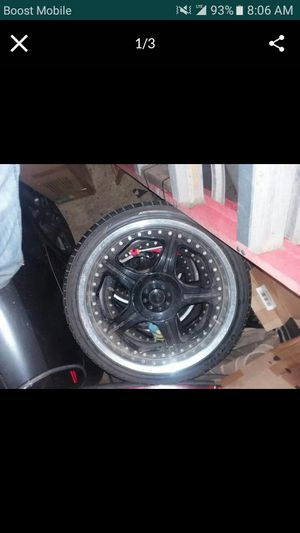 20 inch rims 5 lug universal with good tires 255/35/20 for Sale in Carson, CA