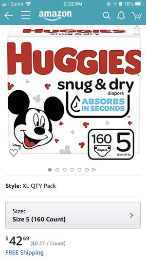 Huggies Diaper size 5 for Sale in Portland, OR