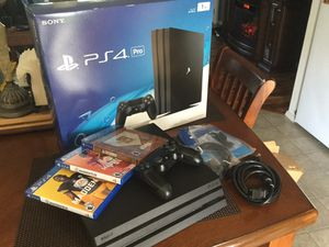 Sony PS4 Pro 1TB CUH-7015B Jet Black with 3 Games for Sale in Olympia, WA