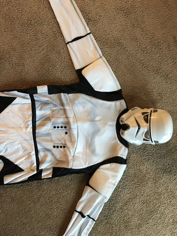 Large size 8 to 10 years storm trooper costume