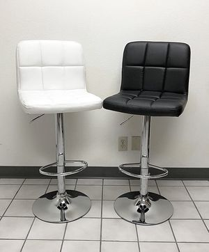 """Brand New $45 each Square Barstool Chair Swivel Bar Stool PU Leather (Adjustable Seat Height 24-32"""") for Sale in Pico Rivera, CA"""
