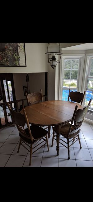 Wood Dining Set - Kitchen Table & 4 Chairs for Sale in Chardon, OH