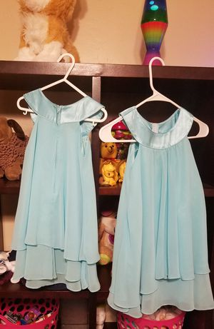 "Girls ""flower girl"" dresses. Matching sizes 5-6 and 3-4 for Sale in Tempe, AZ"