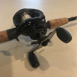 "G-Loomis Medium -Heavy 6'-0"" Baitcast Pole With Bass Pro Shop Mega Cast Reel for Sale in Townville,  SC"