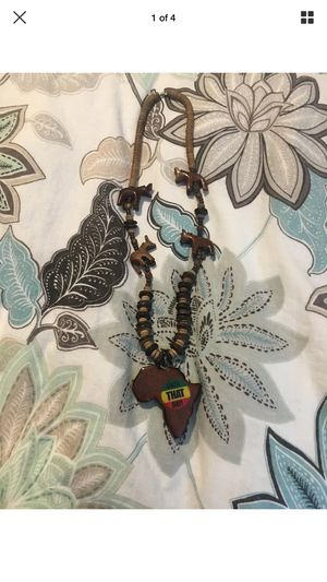 Wooden Africa necklace unisex for Sale in Port St. Lucie, FL
