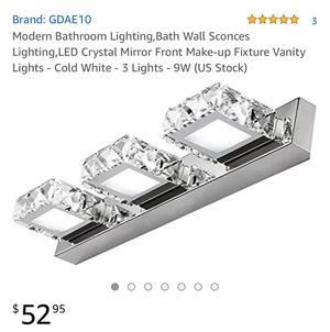 LED crystal light fixture for Sale in Goose Creek, SC
