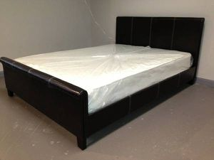 Queen Sleigh Style Bed with Mattress Free Delivery for Sale in Garland, TX
