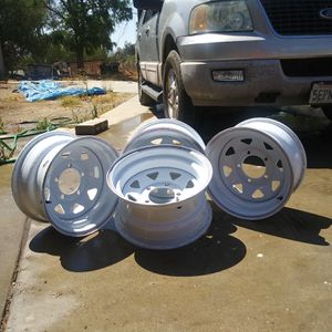 Also most new wheel 5on5.5 patten fits jeep and many or trucks for Sale in Homeland, CA