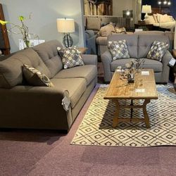 ASHLEY tibbe slate sofa and loveseat for Sale in Houston,  TX