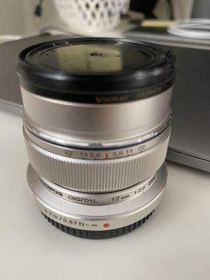 *Good Condition* Olympus M.Zuiko Digital ED 12mm f/2 Lens (Silver) for Sale in Sierra Madre, CA