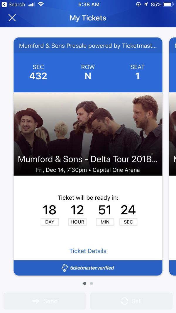 Mumford & Sons at Capital One Arena - 2 tickets