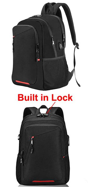 "New in box $20 OMORC Anti-Theft Laptop Backpack w/ Lock Waterproof Travel Bag USB Charging Port Fit 15"" Notebook for Sale in Whittier, CA"