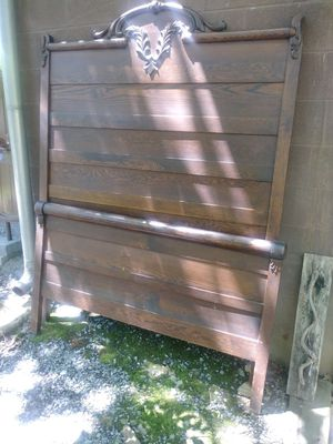 Oak bed frame for Sale in Winchester, VA