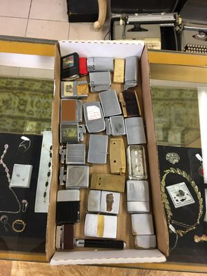 Collection of vintage lighters, zippo, military, custom, many types for Sale in Manalapan Township, NJ