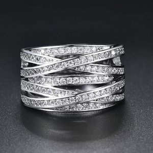 18k white gold plated wrap ring band women's jewelry accessory fashion ring for Sale in Silver Spring, MD