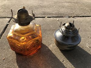 Vintage Amber Glass Lamp / Parrafin Lamp for Sale in Fresno, CA