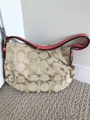 Coach bag with pink handle for Sale in Boston, MA