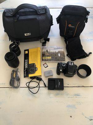 Nikon D3300 24.2MP DSLR Camera - 18-55mm & 55-200mm lenses for Sale in Encinitas, CA