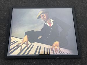 Framed Archival Justin Bua Piano Man Print for Sale in Laguna Hills, CA