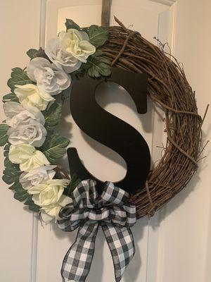Monogram wreath for Sale in Columbia, SC