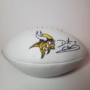 Daunte Culpepper Signed Minnesota Vikings Logo Football (Beckett Hologram) UCF for Sale in Creve Coeur, IL