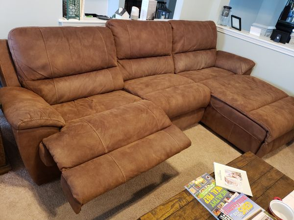 Cool Havertys Furniture Laramie Sectional In Saddle For Sale In Pdpeps Interior Chair Design Pdpepsorg