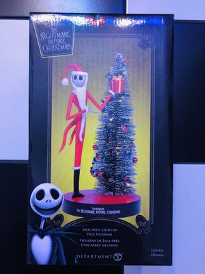 The Nightmare Before Christmas Jack Skellington With LED Lighted Tree NEW In Box for Sale in Moreno Valley, CA