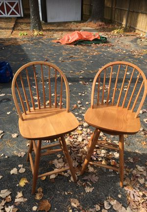Wooden swivel chairs for Sale in North Attleborough, MA