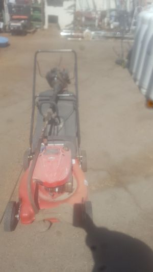 Troy Bilt Lawn mover with bag catcher and Murray weed eater for Sale in Phoenix, AZ