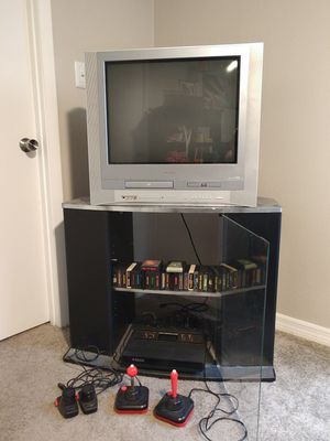 Atari 2600 with Games and TV for Sale in Tampa, FL