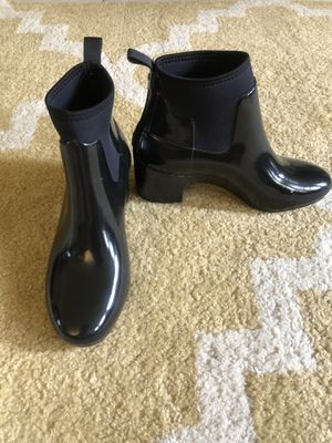 Black HUNTER rain boots with heel for Sale in Cape Coral, FL
