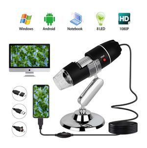 USB Digital Microscope 40 to 1000x, 8 LED Handheld Magnification Endoscope Camera with OTG Adapter and Metal Stand for Sale in Orlando, FL