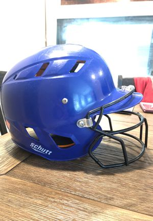 Schutt Baseball Helmet in Royal Blue w/ Face Mask Sz XS 6-9 yo for Sale in Corona, CA