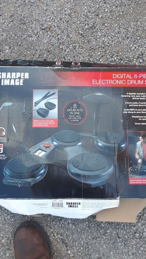 Sharper Image digital 6-piece electric drum set for Sale in Fort Worth, TX