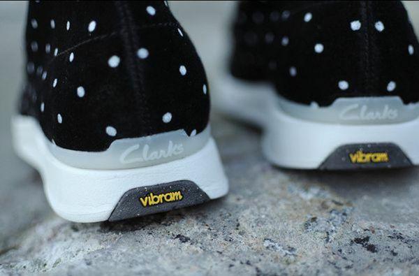 Heather Grey Wall × Clark's Polkadot Wallabees (Sizes 10-11-12 | no half sizes) w/ Vibram Sole Technology